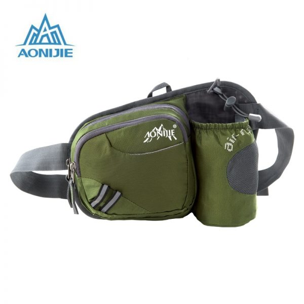 AONIJIE Women Men Running Waist Pack Nylon Waterproof Hydration Bag Water Bottle Holder Hip Pouch for Cycling Camping Hiking