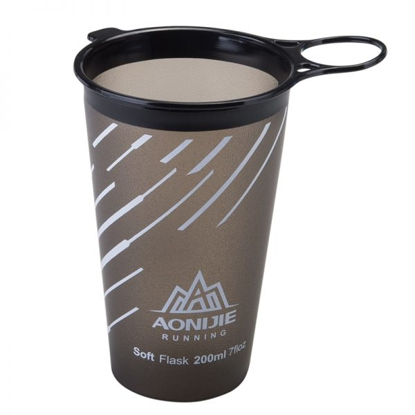 AONIJIE 200ml Foldable Soft Cup BPA Free Water Bag Non Toxic TPU Ultralight For Outdoor Sports Marathon Cycling Trailing Running