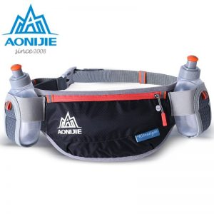 AONIJIE Men Women Running Waist Bag Hydration Belt Bottle Waterproof Jogging Fanny Packs Waist Pack with Two Water Bottle 250ml