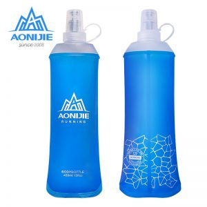 AONIJIE SD19 R450 Soft Flask Folding Collapsible 450ml Water Bottle TPU BPA Free Running Hydration Pack Waist Bag Vest Marathon